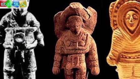 考古学家在雅雕像头部发现二维码, 有可能是外星