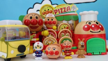 面包超人售卖披萨支持到店自取和外卖, 生意红火面包超人乐翻天