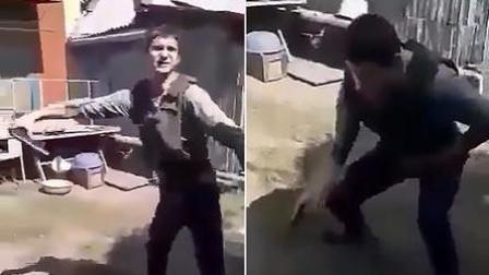 男子为测试防弹背心 竟对着自己开枪