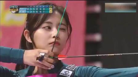 韩国最美射箭运动员, 射完箭回头的那一笑, 孩子