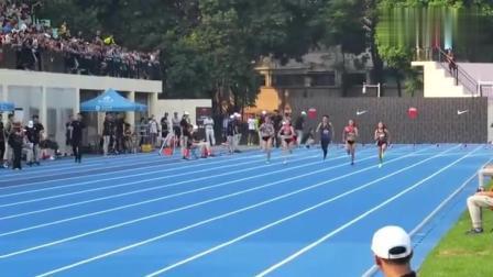 国家女子短跑运动员参加高校运动会! 这不是去虐
