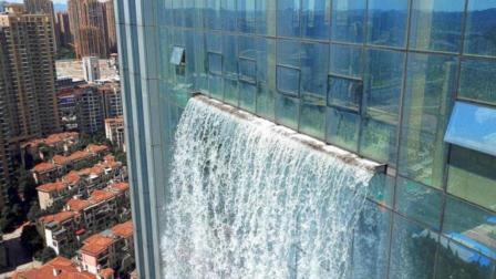 贵州百米高楼瀑布一小时电费800块