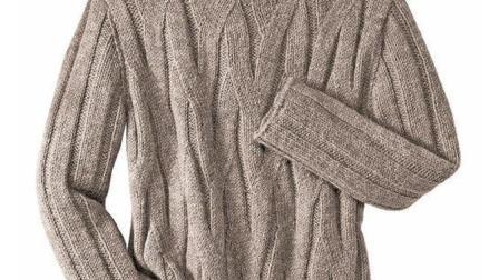 成熟帅气的男士毛衣编织花样织法, 其实织女款也不错