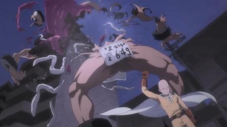 一拳超人:琦玉回家路上遇到怪物挑衅,结果琦玉一拳就把打飞!