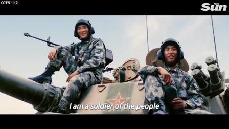 中国军队在外国的宣传片