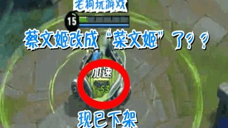 """王者荣耀: 蔡文姬已经改成了""""菜文姬""""下架重整"""