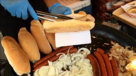 史诗烤法兰克福香肠-烤洋葱-酸菜-伦敦街头小吃