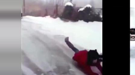 冬天滑倒的搞笑瞬间, 忍住不要笑