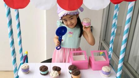 小朋友制作水果蛋糕玩具