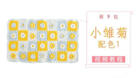 小雏菊新手毯详细步骤图解视频