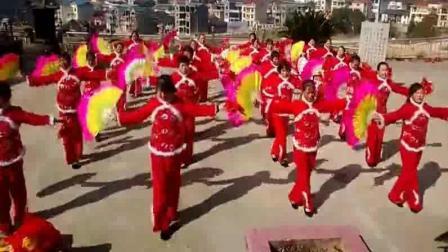 扇子舞视频大全 沙溪夕阳红腰鼓队扇子舞
