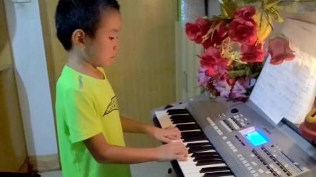 (两只老虎): 电子琴演奏: 儿童学习: (嘉嘉): 演奏