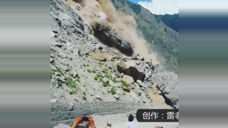 公路突发泥石流, 几名男子作死拍下惊险视频!