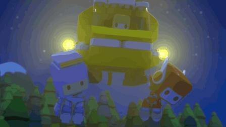 少儿汽车动画: 进入森林捡球优琪迷路 百变布鲁可小队变身直升机紧急营救