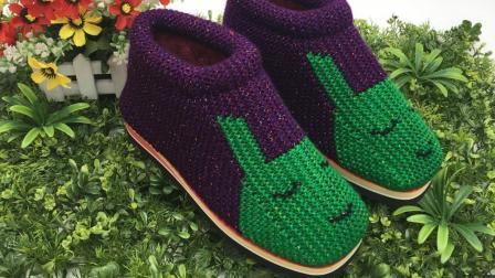 巧手女工编织坊可爱兔棉鞋编织视频教学,毛线手工棉鞋编织方法(三)编织款式