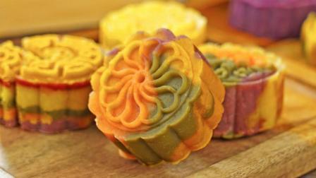 罐头小厨 第三季 免烤彩虹绿豆月饼 中秋给你不一样的甜蜜团圆