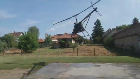 牛人自制简易直升机, 试飞后很佩服自己!