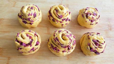 农村妈妈教你馒头新做法, 一块南瓜半个紫薯, 香甜松软不塌陷!