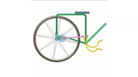 科技奇趣: 带有4杆连杆机构的无链自行车