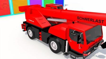 创意动画 玩具吊车模型 学颜色 儿童趣味视频 少儿启蒙英语