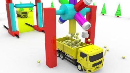 认识颜色 创意动画 玩具卡车模型 儿童趣味视频 启蒙英语 早教英语