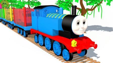 创意动画 认识颜色 搞笑火车玩具模型 儿童趣味视频 启蒙英语 早教英语