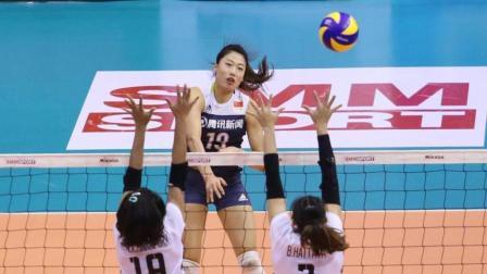 朱婷国家队得分纪录被破了! 刘晏含一战封神 亚洲杯单场42分集锦