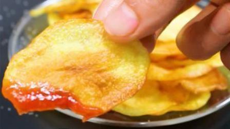 自制烤薯片, 营养又健康