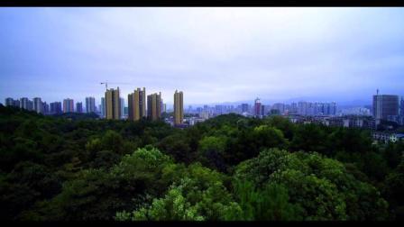 怀化迎丰公园高空航拍超清4K原版金秋的美丽