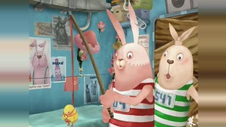 兔: 红兔把小鸡当诱饵扔进马桶钓球