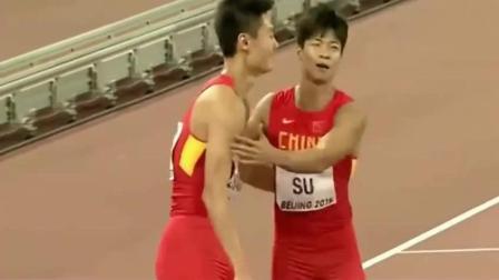中国奇迹! 苏炳添带领中国队夺4x100季军, 打破历