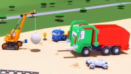 汽车总动员之火车特洛伊: 水泥搅拌车克里斯托福在沙雕比赛中获得第一名