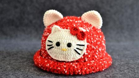 【素姐手作】第93集 kt猫帽子毛线手工钩针编织教程
