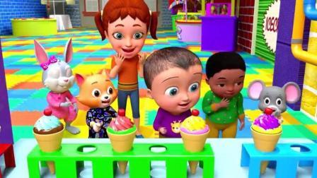 吃冰激凌, 学颜色 趣味卡通动漫儿歌 儿童英文歌曲 少儿启蒙英语