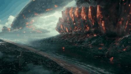 直径几千公里的巨型外星母舰降落太平洋, 整座城市被吸到空中