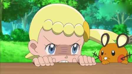 神奇宝贝: 咚咚鼠生气的样子好可爱! 使出碰碰脸