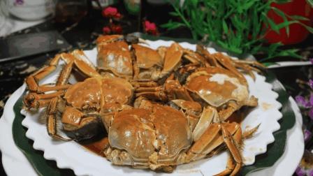 秋季吃蟹, 家常油焖大闸蟹, 最简单做法