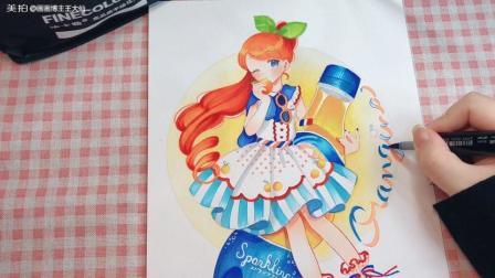 【马克笔动漫人物】画个汽水小姐姐喜欢不?