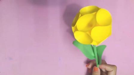 创意纸花DIY, 圆形纸球花的制作方法