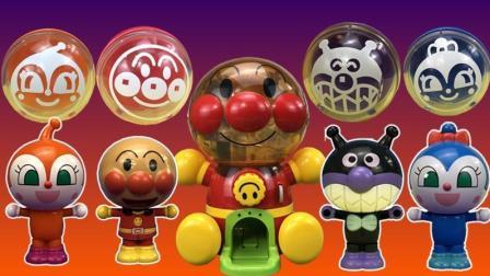 小猪佩奇亲子故事 面包超人扭蛋机用魔术变出可动玩偶
