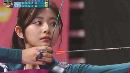 初恋到底是什么感觉? 看到韩国美女射箭运动员回头的那一瞬终于体会到了