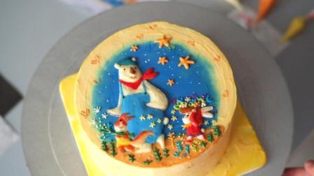 浮雕彩绘蛋糕组装过程