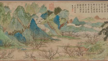 古代字画-桃花源图-明仇英绘美国波士顿美术馆藏