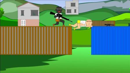 绝地求生搞笑动画: 打爆汽车险伤队友, 毒圈到来无处可逃