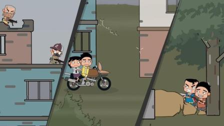 绝地求生搞笑动画: 菜鸡带妹吃鸡, 决赛圈遭天降正义, 轰炸区吃鸡