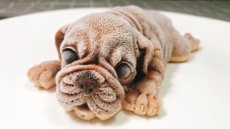 网红沙皮狗慕斯, 你看我我这么可爱, 可不可以不要吃我!