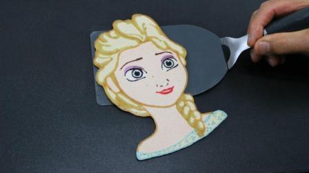 女儿最爱看《冰雪奇缘》的艾莎, 画家爸爸: 来, 我用锅给你烙一个