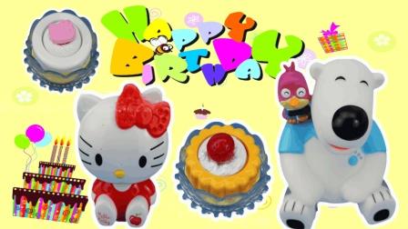 面包超人和波比来到Hellokitty凯蒂猫的甜品蛋糕店DIY美味的蛋糕