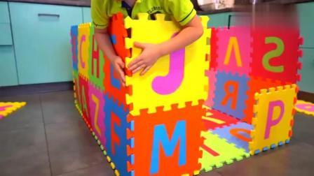 幼儿益智早教学习: 搭建彩色字母数字小屋 学习数字和颜色