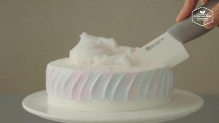 超治愈美食教程: 棉花糖蛋糕 Cotton Candy Cake